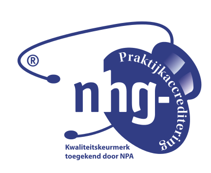 Our practice is accredited by the Dutch College of General Practitioners (NHG)